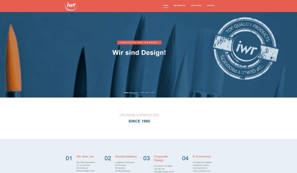 Internetseite IWR Hantke & Röhricht oHG