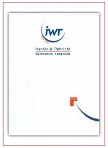 IWR Hantke & Röhricht Werbeartikel Katalog 2019