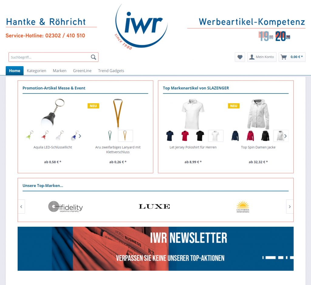 IWR Werbeartikel-Express-Shop