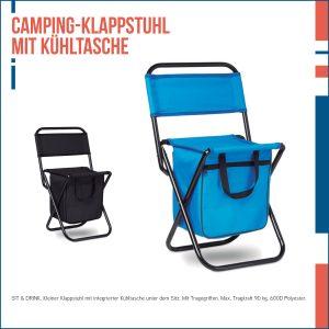 Camping-Klappstuhl mit Kühltasche